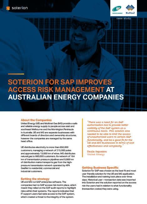 sap for australian energy