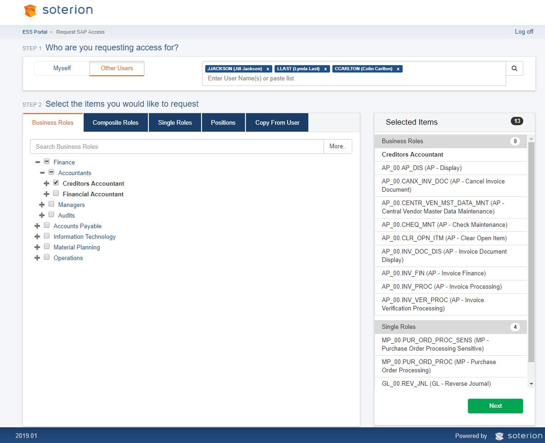 Módulo del Portal del Empleado - Soterion